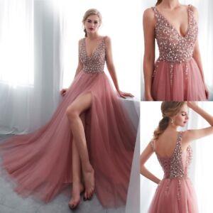 lang perlen kleider brautjungfernkleid ballkleider hochzeitskleider abendkleider  ebay
