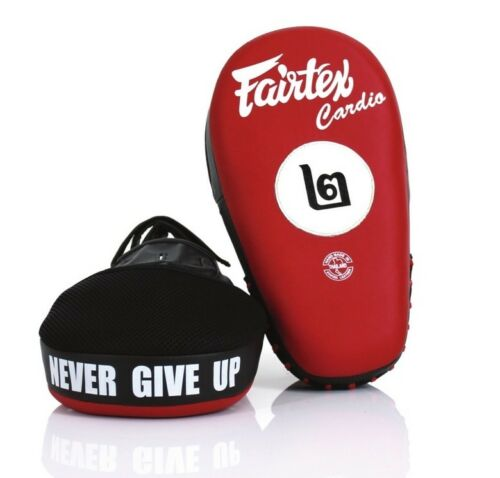 Fairtex FMV12 Angular Focus Mitts Muay Thai Boxing Punch Target Pads Black Red