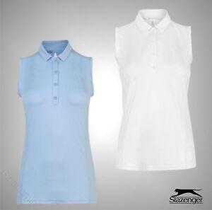 Ladies-Slazenger-Lightweight-Sleeveless-Stretchy-Polo-Shirt-Golf-Top-Sizes-8-18