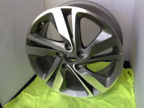 Reconditioned  Alloy Wheel 17X7 Medium Charcoal Painted with Machined Face 0860