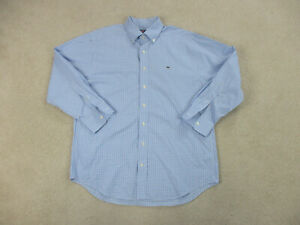 Vineyard-Vines-Button-Up-Shirt-Adult-Large-Blue-White-Long-Sleeve-Whale-Mens-B41
