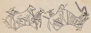 C2992 Greece - Una Scena Dellla Docimasia - Xilografia D'epoca - 1924 Engraving
