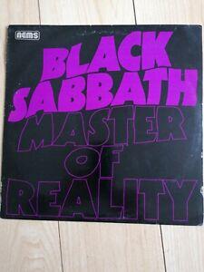 BLACK SABBATH MASTER OF REALITY 1976 original vinyl  album  very good condition.