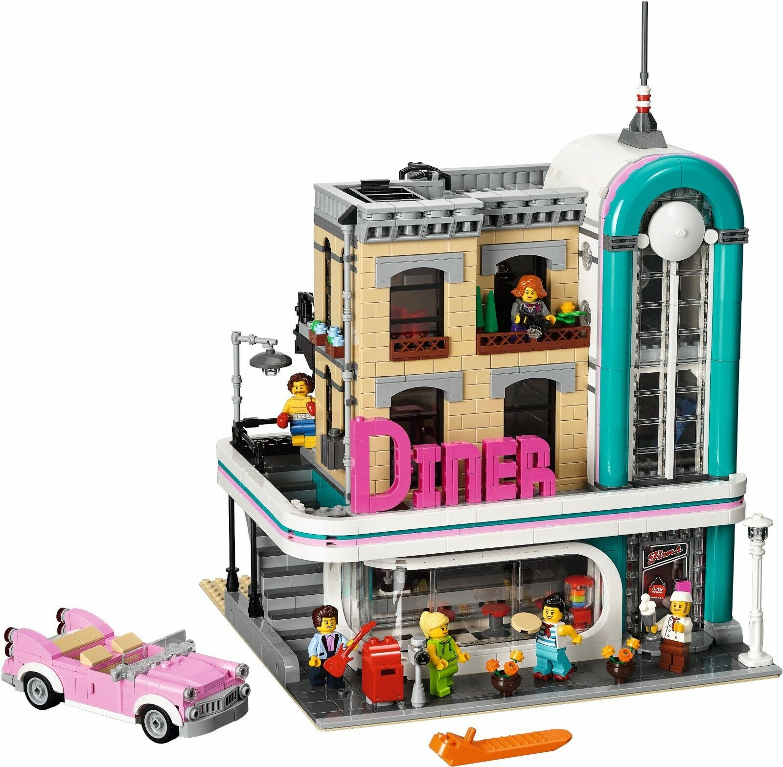 LEGO  Creator 2018 Downtown Diner (10260) Damaged Box  top marque