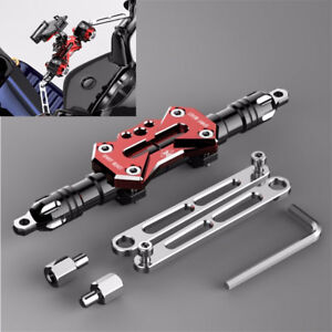 1x-CNC-Moped-Scooter-Handle-Drag-Bar-Bracket-Mount-Stand-for-Clamp-Charger-Light