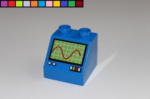 Baustein Cars Auto Werkstatt Lego Duplo Motivstein blau
