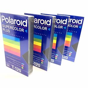 Polaroid-Blank-Video-VHS-T-120-Tapes-Lot-of-4-New-Factory-Sealed