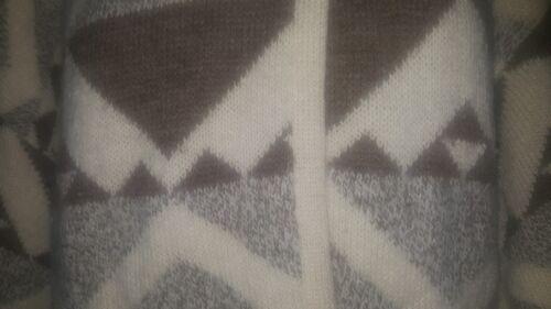 Wrap Aztec Vintage Escada 36 Mélange Pull Boutons Srb By 2 Womens Laine de Sz d'Alpaga Ipzzqt