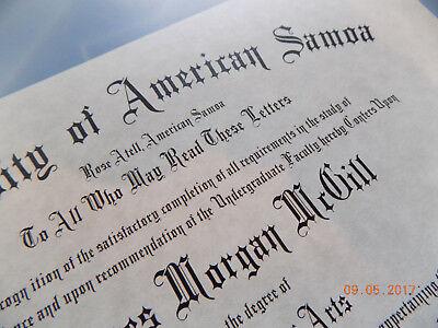 American Samoa Diploma James Morgan McGill Better Call Saul  - B3G1F