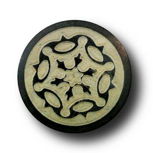 1059br 5 particularmente noble marrones büffelhorn botones con expresión fuerte patrón