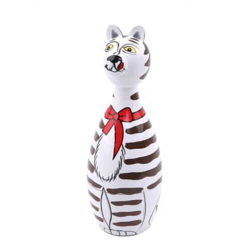 Cats Wooden Nesting Animal Pet Doll Russian Handmade Stacking Dolls Gifts 5pc Q