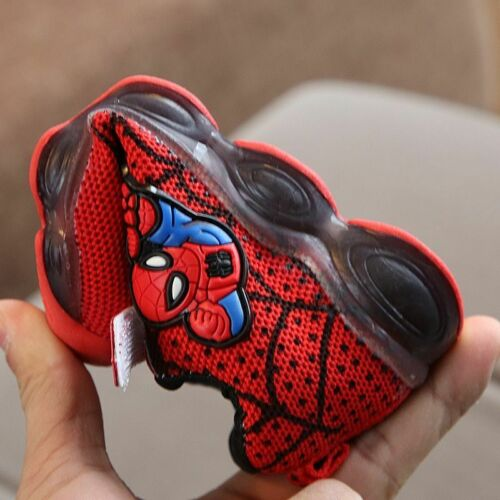 Size21-30 Led Luminous Spiderman Kids Shoes Boys Girls Light Children Sneakers