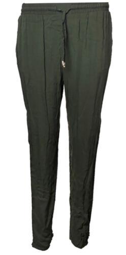 Ex Primark Ladies Tapered Leg Tie Belt Elasticated Waist Pull On Trousers