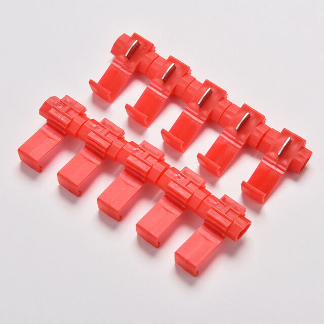 10x Red Electrical Cable Connectors Quick Splice Lock Wire Terminals Crimp ATCA