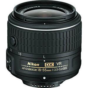 Nikon-AF-S-NIKKOR-18-55mm-f-3-5-5-6G-VR-II-DX-Lens-NEW