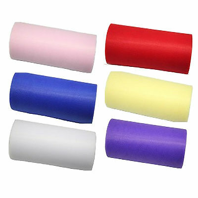 "Full Roll of Tulle ribbon 6"" wide 25 yards long tutu wedding craft netting"