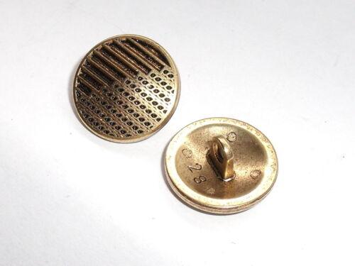 8 Stück Metallknöpfe Knopf Ösenknopf Knöpfe  15 mm altgold NEUWARE 0111.1