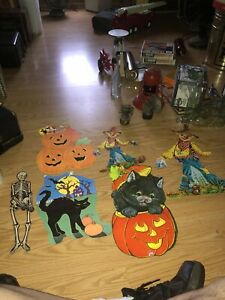6-Vintsge-Halloween-Die-Cuts-Eureka-Usa-All-In-Good-To-Fsir-Condition