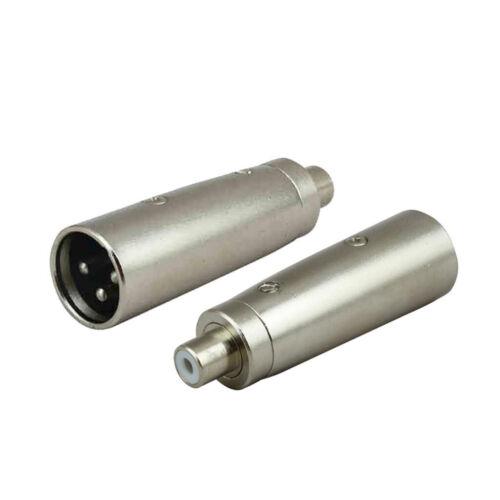 2Pack XLR 3 Pole Buchse Auf Cinch Buchse Kabel Adapter Koppler Mikrofonkabel