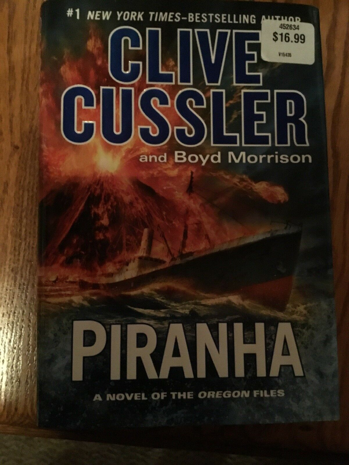 Oregon Files: Piranha 10 by Clive Cussler and Boyd Morrison (2015,  Hardcover)   eBay