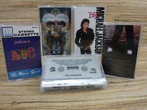 Cassette Tape Lot x5 MICHAEL JACKSON Wall Bad Dangerous JACKSON 5 ABC JACKSONS