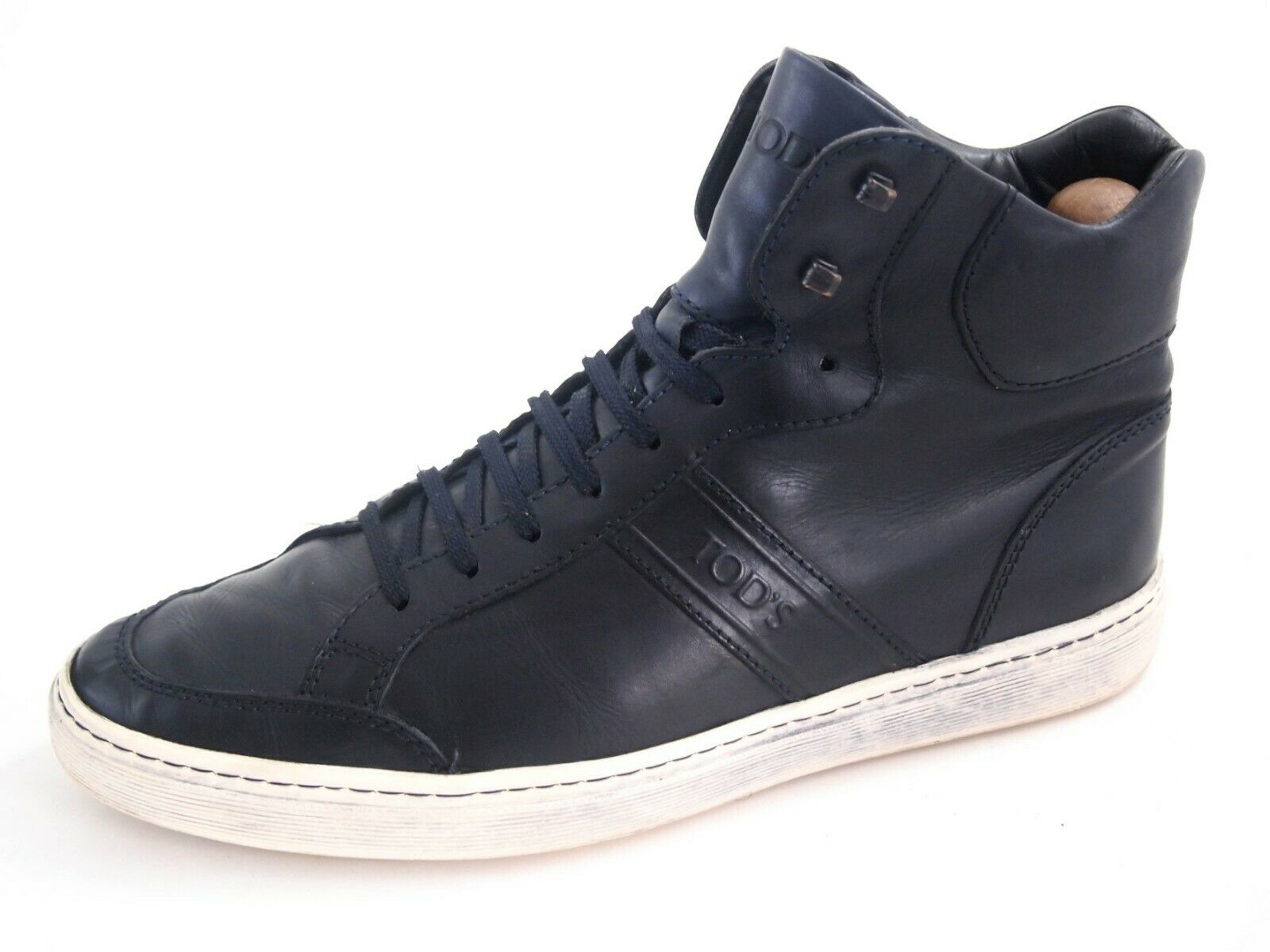 Tod's high top sneakers,  bluee leather, men's shoe size US 8 EU 41  580