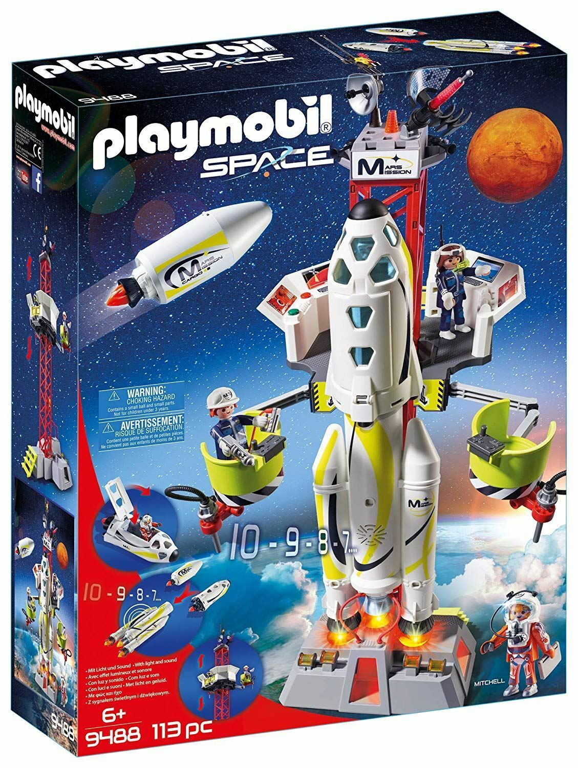 Playmobil Playmobil Playmobil 9488 Rocket with Launch Site 57a167