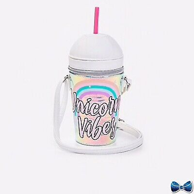 new Justice Girls Unicorn Vibes Frappe Crossbody New With Tags