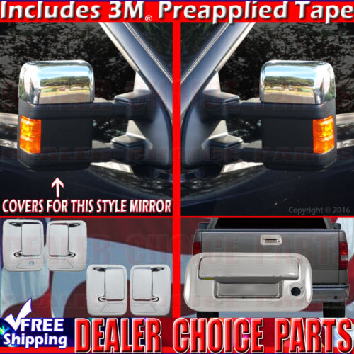 2008-2016 FORD F250 SUPERDUTY Chrome Door Handle COVERS 4d 1K+Mirrors H+Tailgate