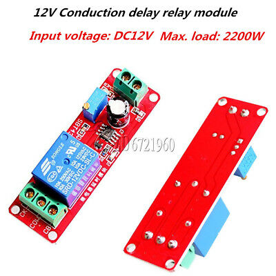DC 12V Delay Relay Module Shield NE555 Timer Switch Adjustable 0 to 10 Second