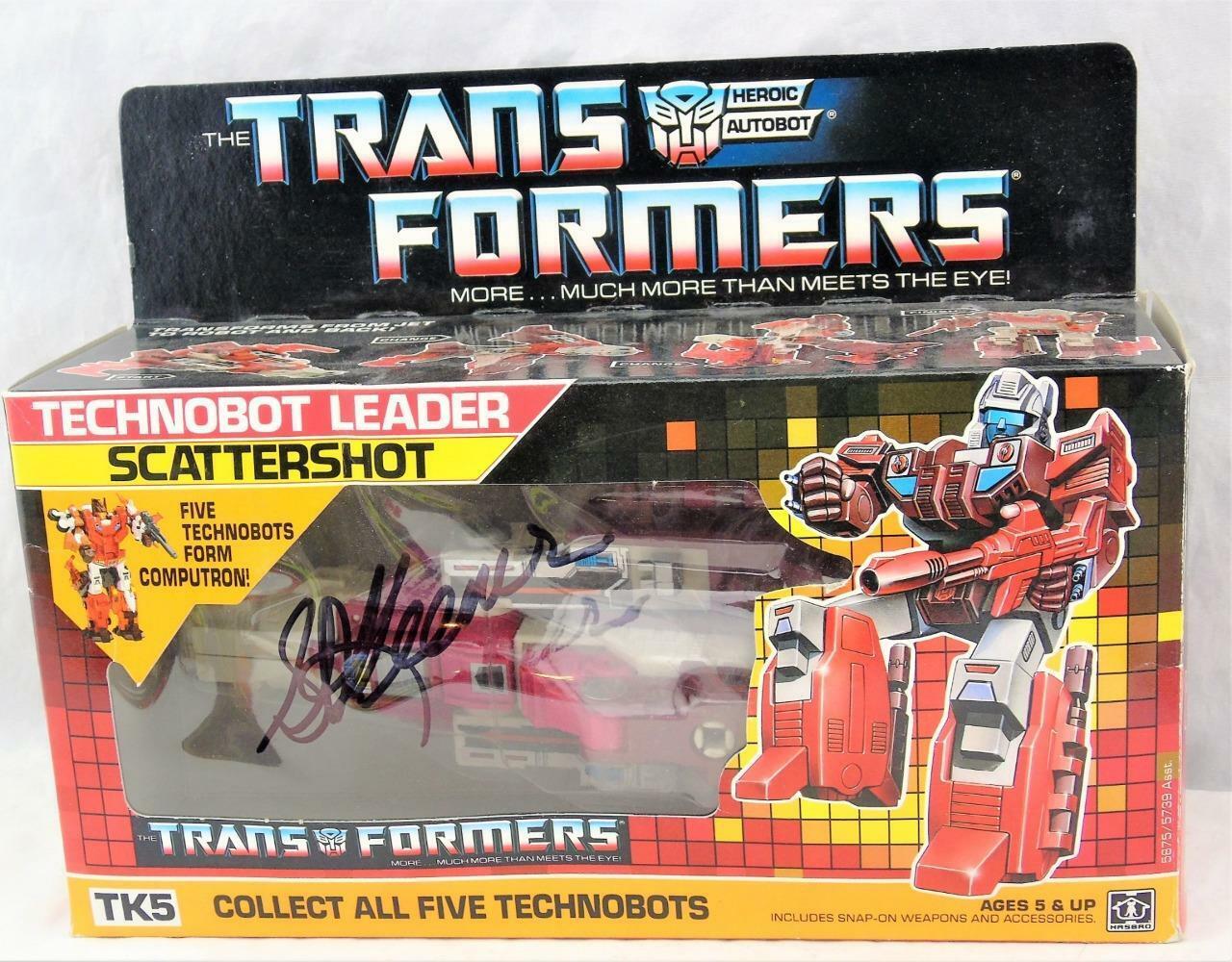 Transformers ORIGINALE G1 1987 tutto completo di scatola BUBBLE AUTOGRAFATO