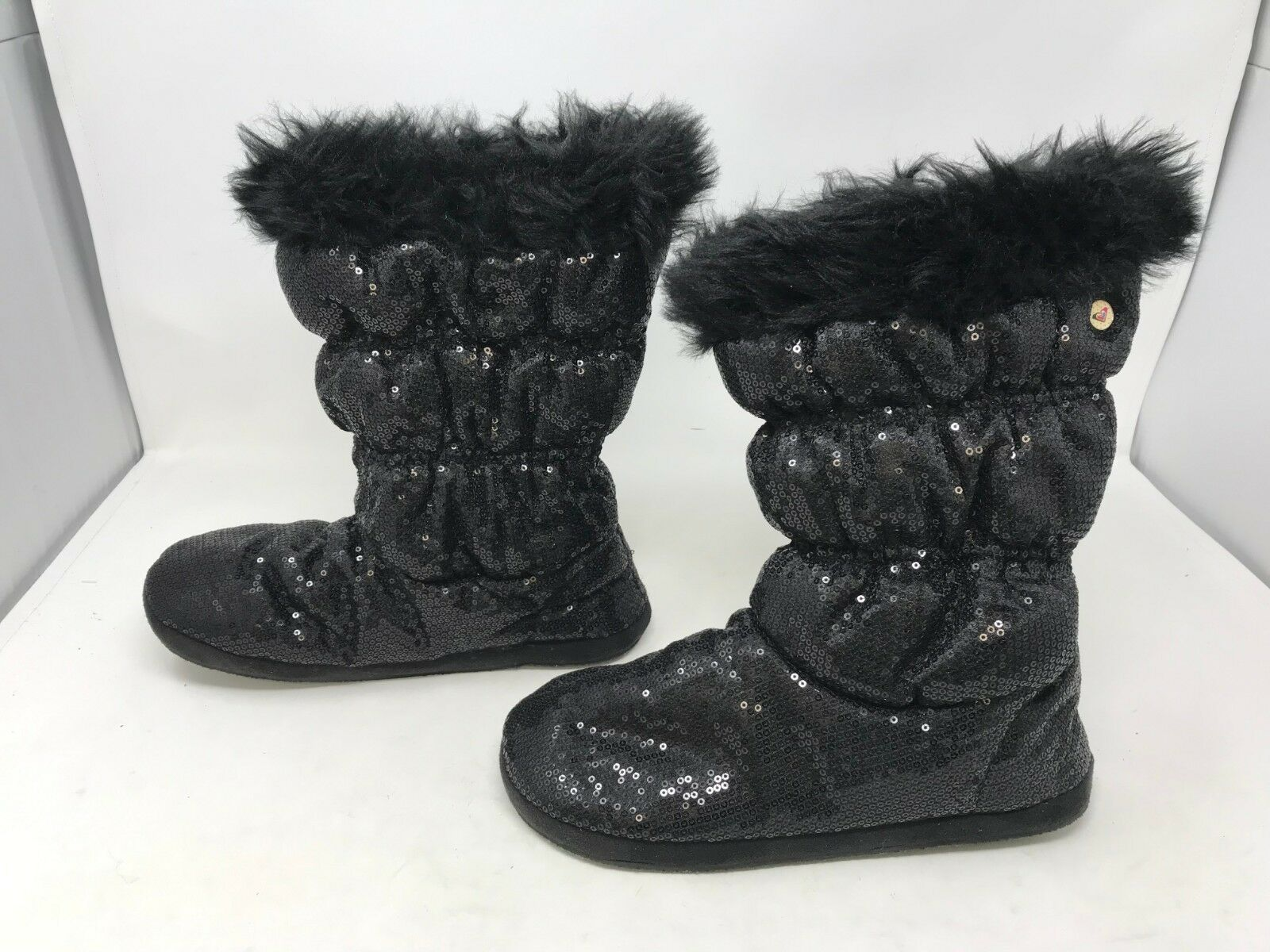 Womens Roxy (457U93) Candy Cane Black Boots (7R)