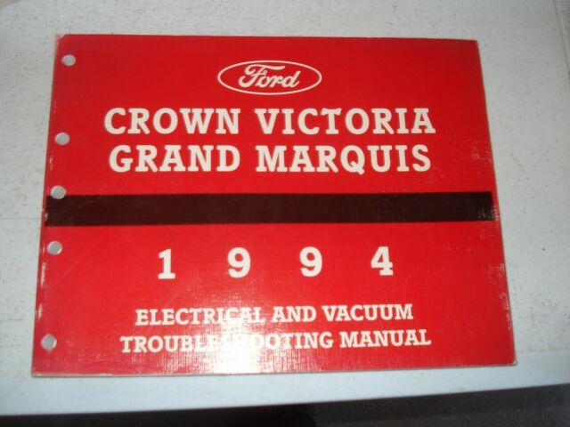 1994 Ford Crown Victoria Mercury Grand Marquis Wiring