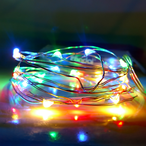Led Fairy Lights 6 Foot Battery Operated Multi Colored