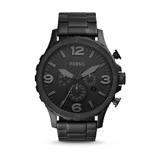 FOSSIL JR1401 Nate Chronograph All Black Stainless Steel 50mm Men's Watch