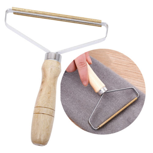 Portable-Copper-Lint-Remover-Manual-Clothes-Cleaning-Fuzz-Shaver-Wood-Handle