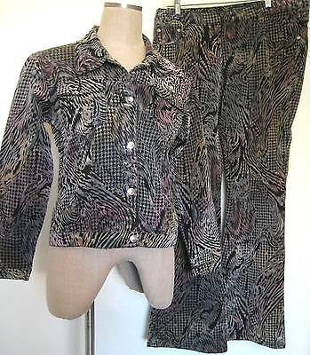 Impressions Western Jean Jacket and Pants Size XL Multi-color Animal Print