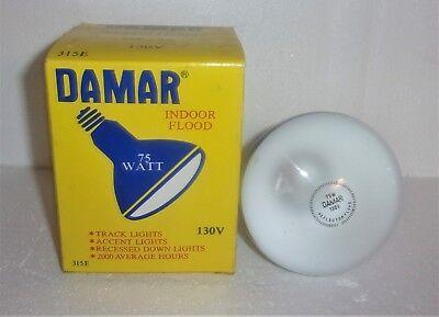 DAMAR 315E 130V 75W INDOOR FLOOD LIGHT BULB LAMP 75R30FL NEW