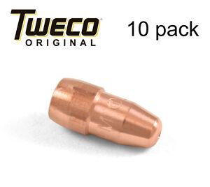 10 ea - Genuine Tweco VTS23, Mig Welding Contact Tips .023