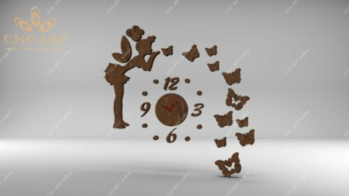 Nice clock design DXF and EPS File For CNC Plasma Router C44 laser