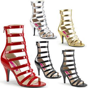 Dream-438 Elegante Damen High-Heels Multi-Riemchen Sandaletten Übergrößen 39-48