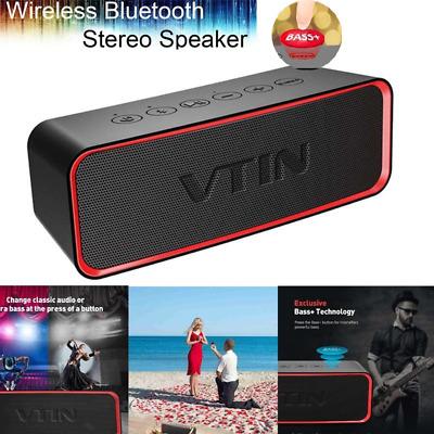 VTIN Wireless Bluetooth Speaker Portable IPX6 Waterproof Extra Bass Classic