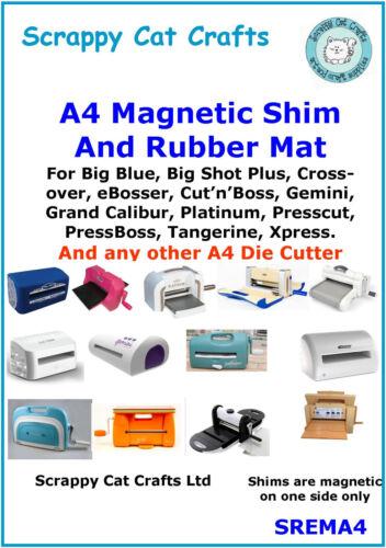 A4 Magnetic Shim /& Rubber Mat for Grand Calibur A4 Die Cutter Scrappy Cat SREMA4