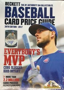 Details About New Beckett Baseball Card 2017 Annual Price Guide 39 39th Edition