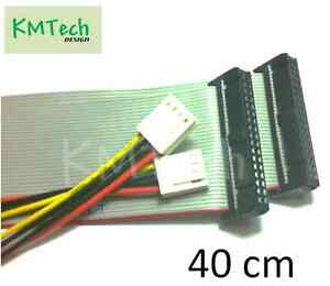 Floppy-diskette-data-power-cable-extension-set-for-Amiga-Gotek-40cm-NEW