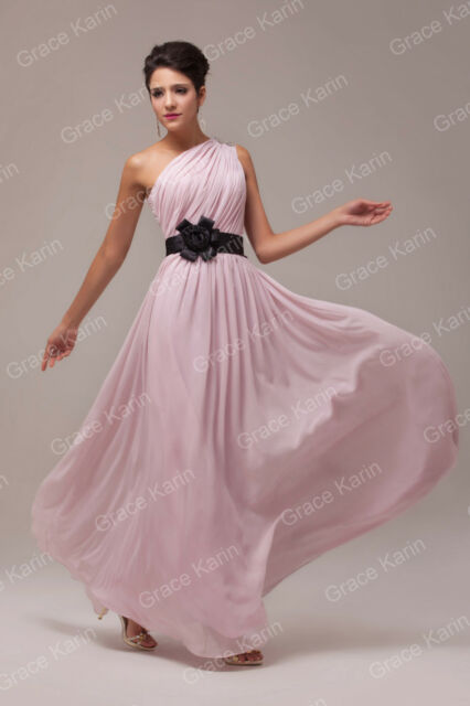 Masquerade One Shoulder Long Evening Party Bridesmaid Dress Gown Prom Dress