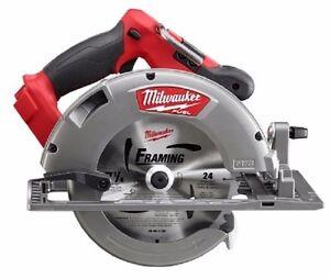 Milwaukee 2731 20 m18 fuel 7 14 in circular saw ebay image is loading milwaukee 2731 20 m18 fuel 7 1 4 greentooth Choice Image