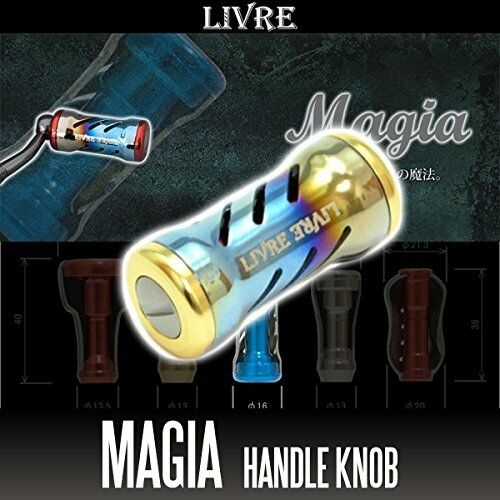 LIVRE Magia Titanium Handle Knob 1 piece FIRE   Gold