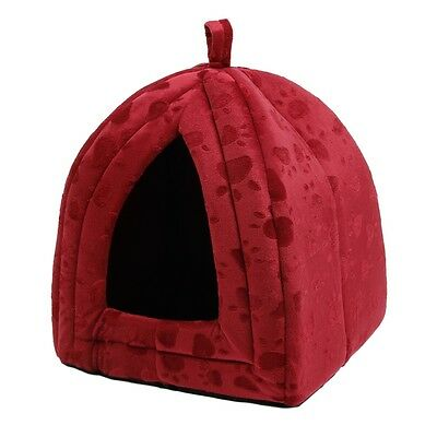 Pet Bed Dog/Cat Puppy Bed Igloo Style House Basket Warm Kennel Soft Cushion Hut