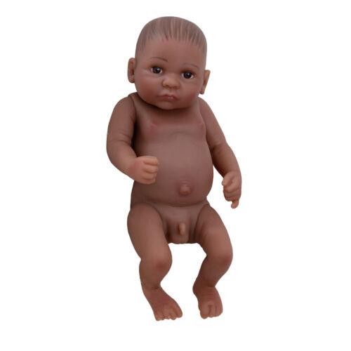 11/'/' Reborn Black Baby Boy Naked Doll Full Vinyl Handmade Lifelike Birthday Gift